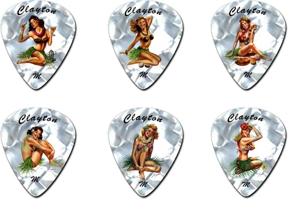 Steve Clayton Heavy Hula Hotties Guitar Picks (12 Pack)