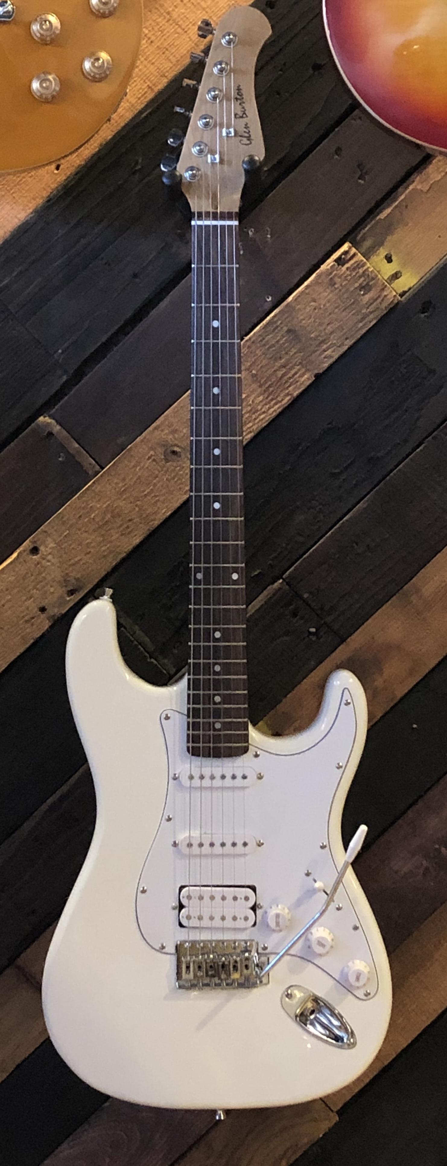 Glen Burton GE39-ST101-WH Solid Body S-Type Electric Guitar w/ Slipcase