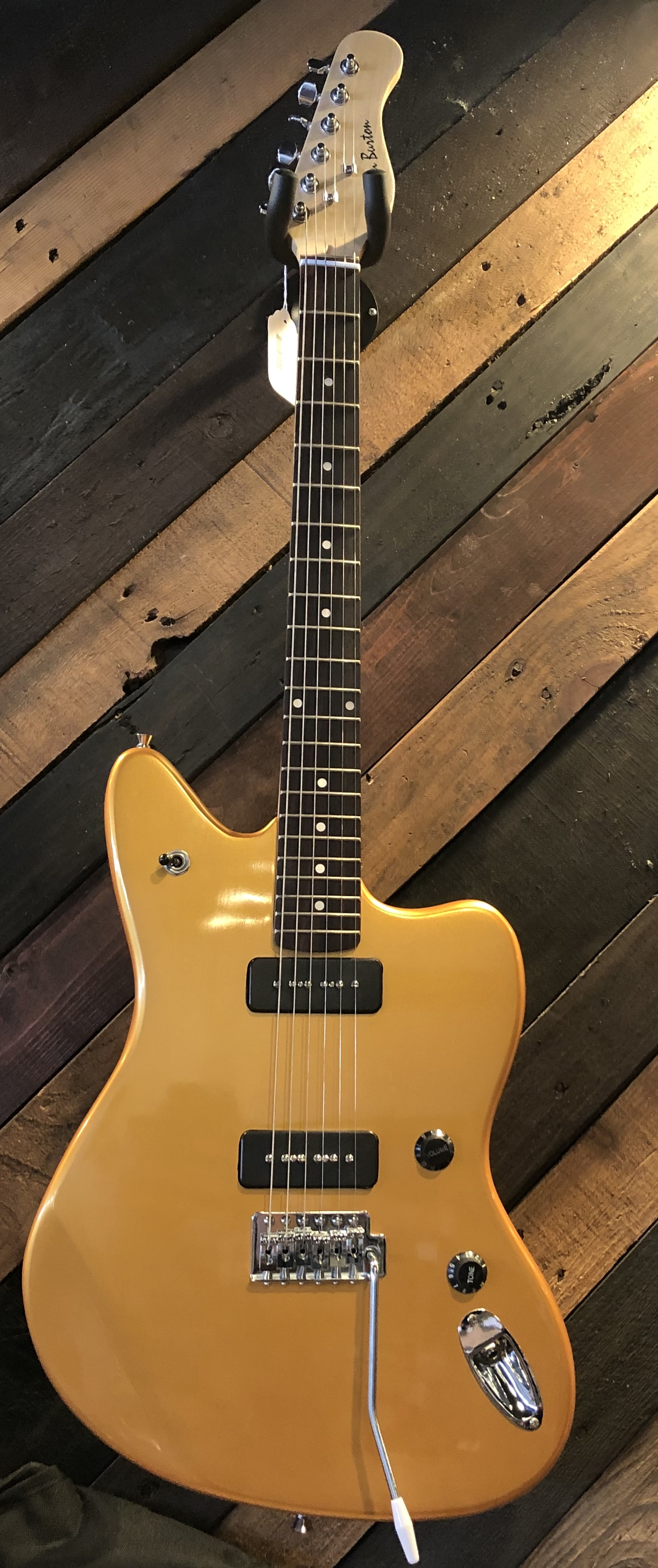 Glen Burton GE39-JG-CG Offset Body Electric Guitar Coastline Gold