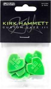 Dunlop Kirk Hammett Custom Jazz III Guitar Picks 6pk
