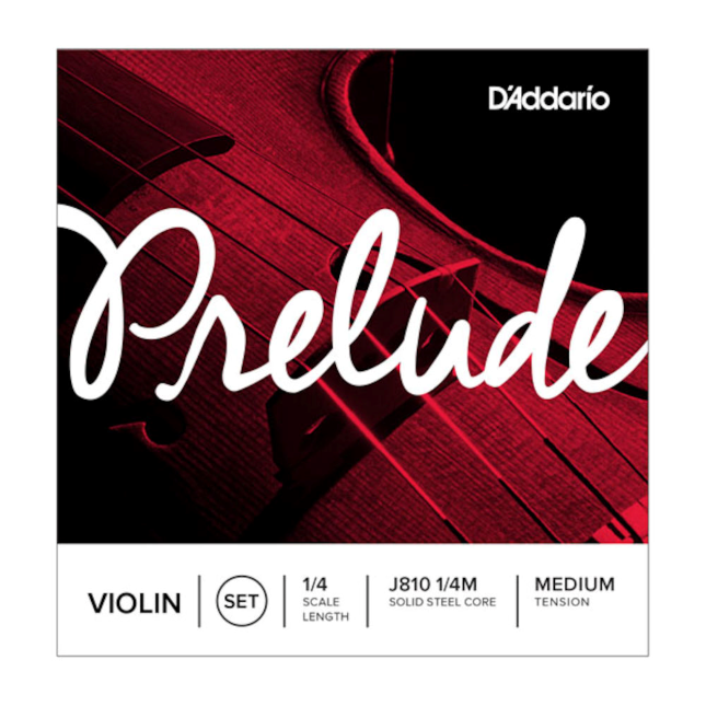 D'Addario Prelude Violin Strings 1/4  J810 1/4M