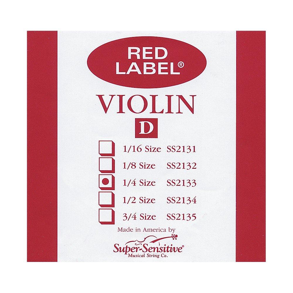 Super Sensitive Red Label 1/4 Violin String Set
