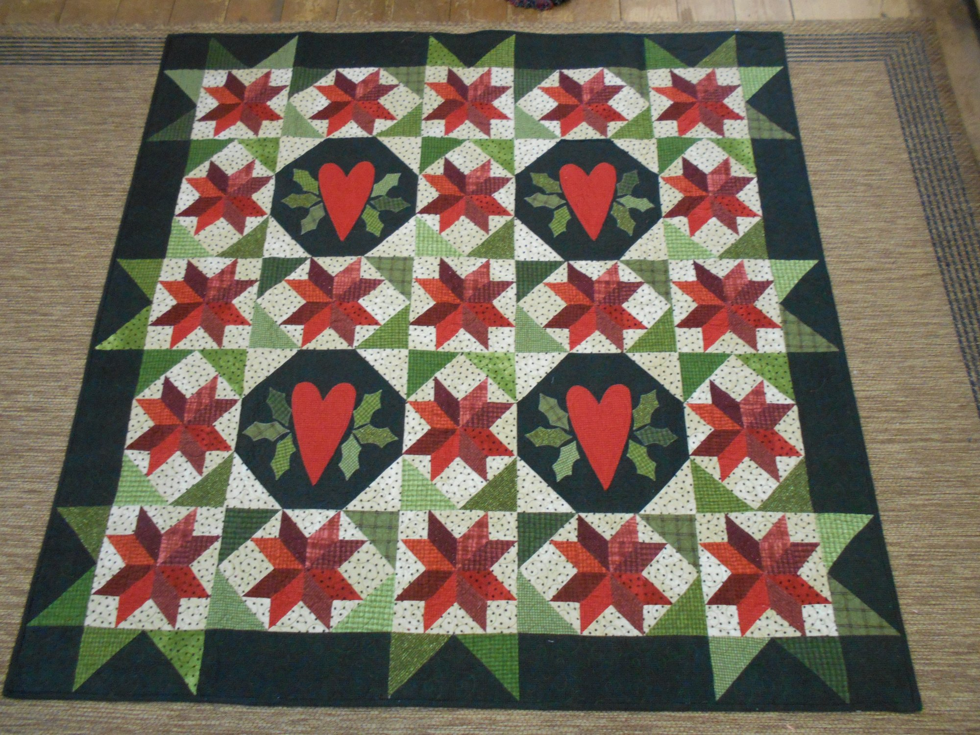 Holly in my Heart Ready Made Quilt
