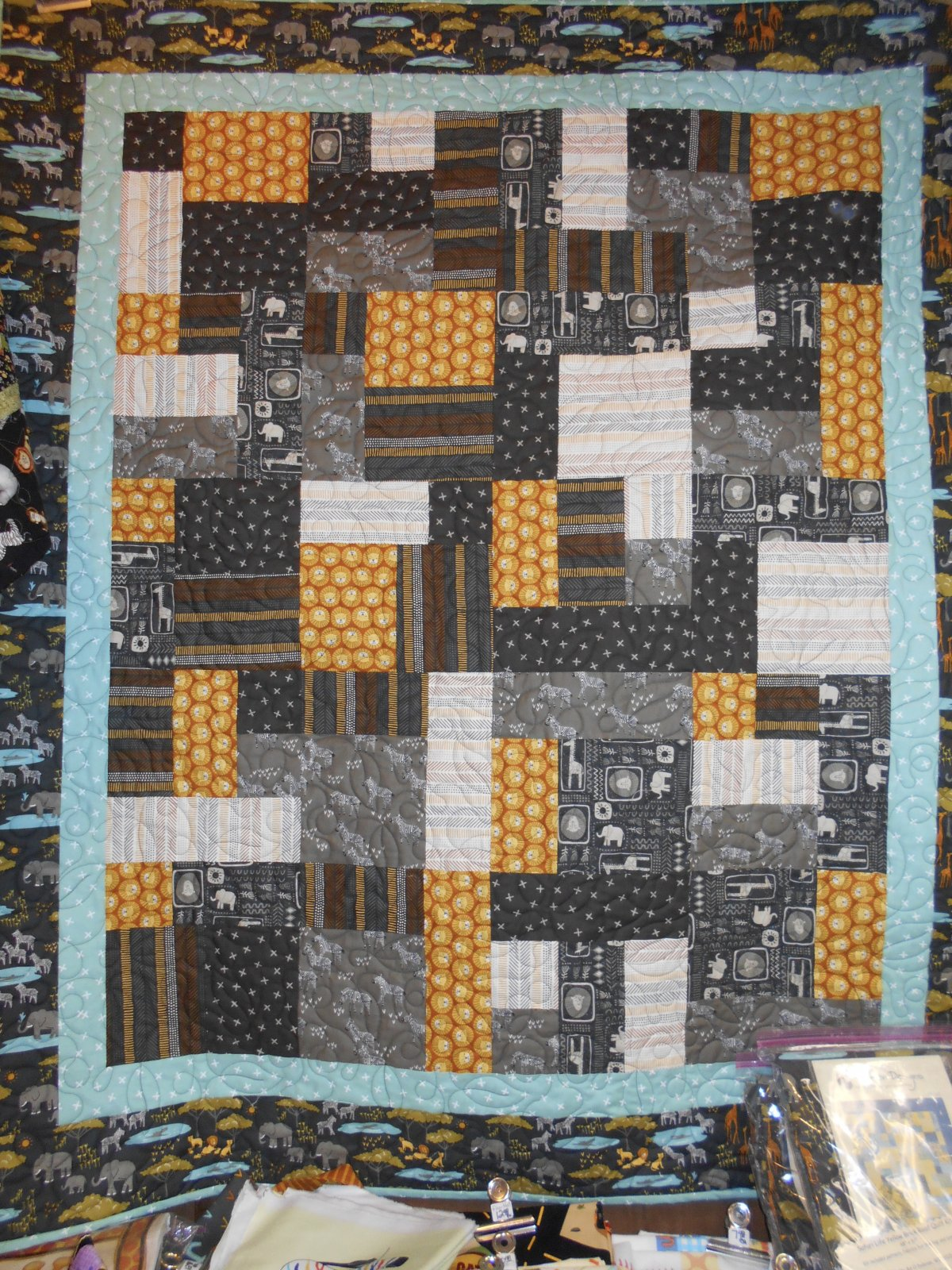 Safari Life Yellow Brick Road Quilt Kit
