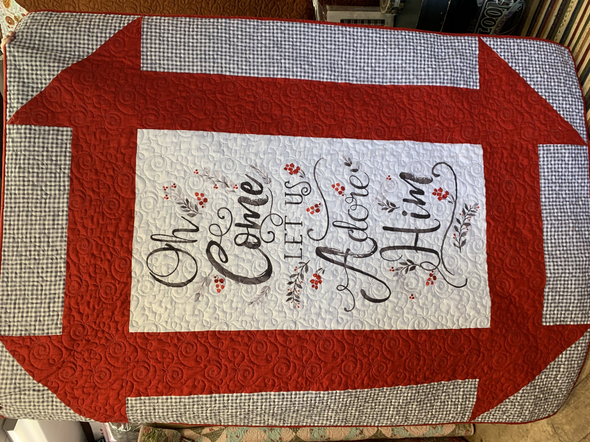 O Come Let Us Adore Him Quilt Kit