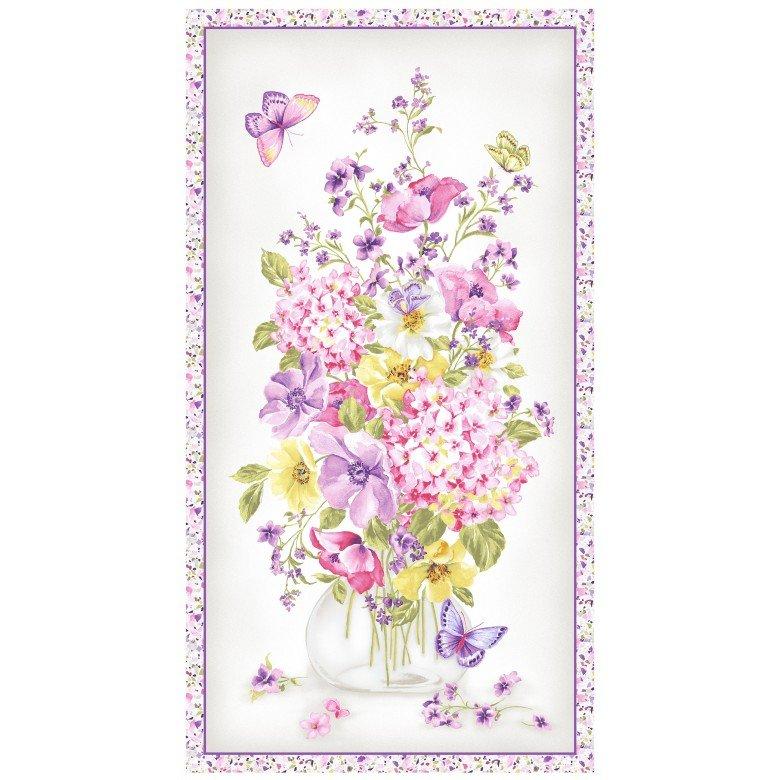 Somerset Flower Bouquet Panel