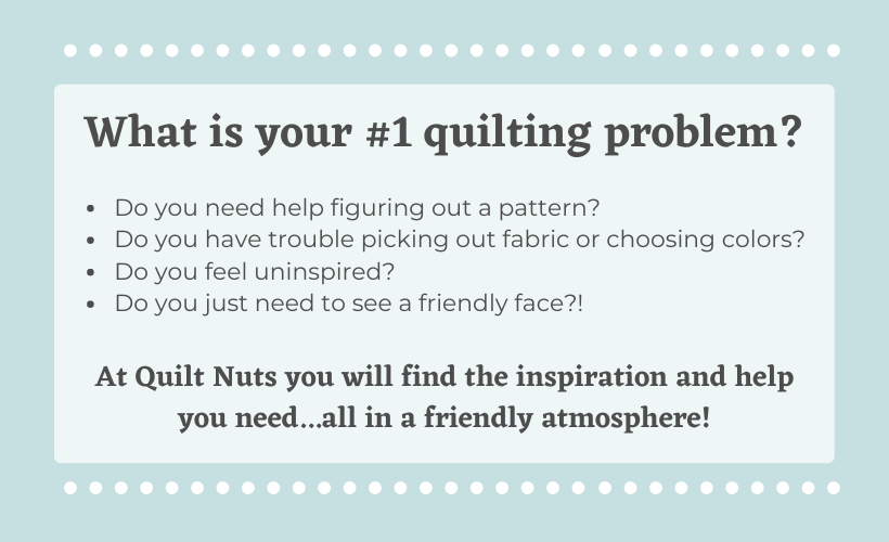 what is your number 1 quilting problem