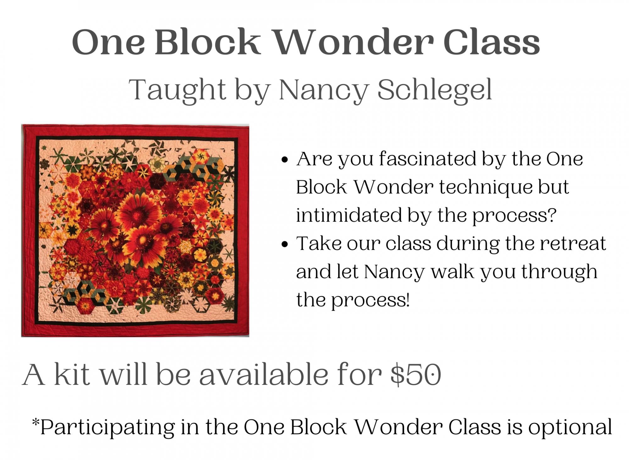 One Block Wonder Class