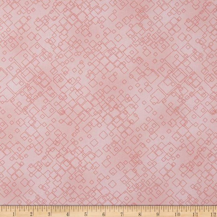 Tonal Squares Light Pink