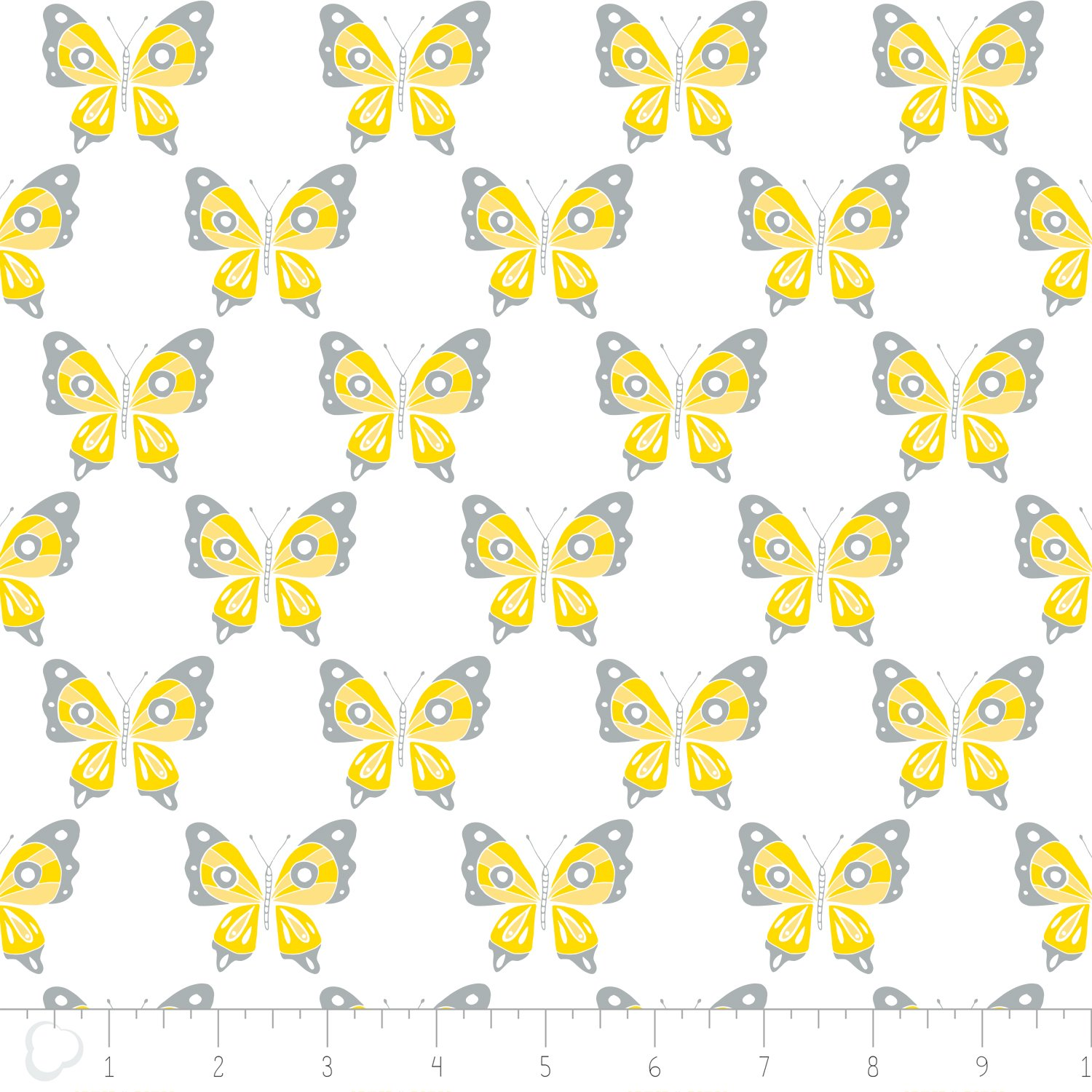 Flutter & Buzz - Butterfly - Yellow/Gray