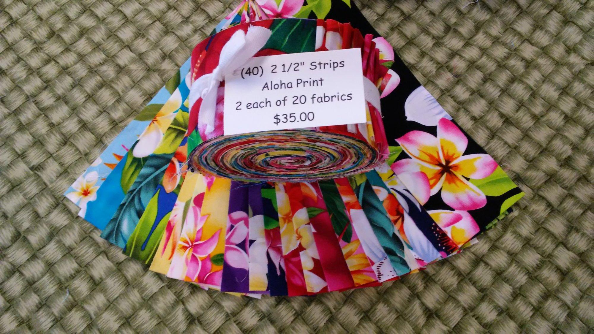 (40) Hawaiian Floral 2 1/2 Strip Set