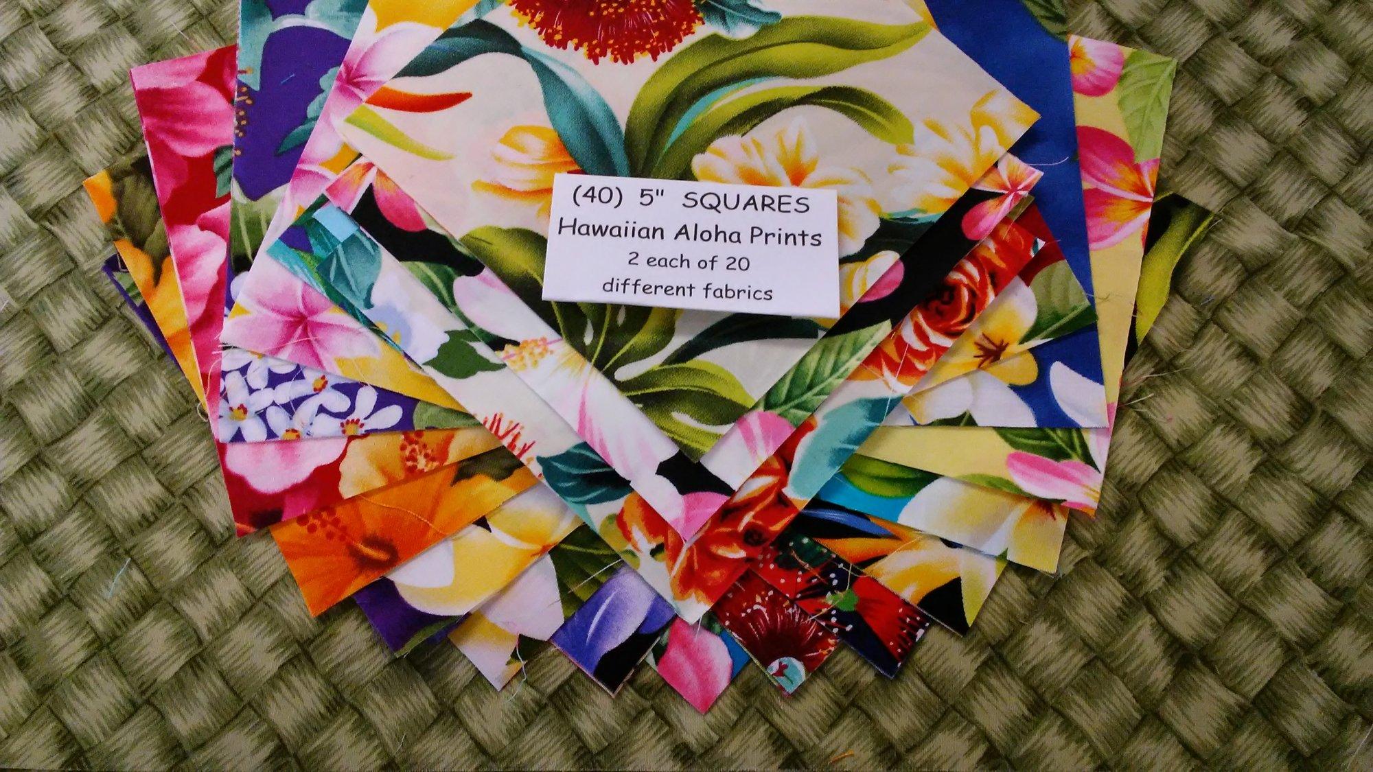 Hawaiian Floral 5 Square set (40)