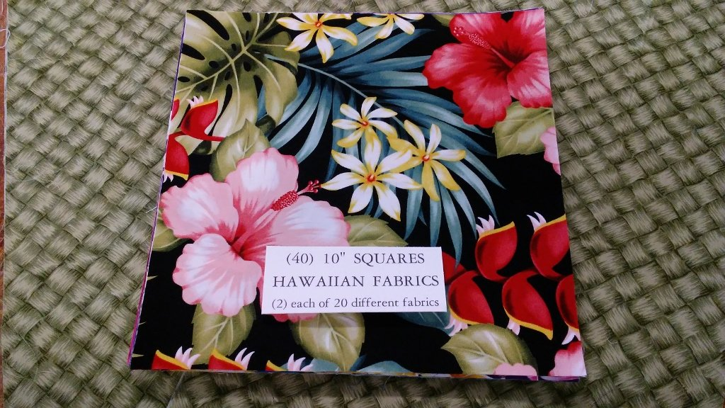 (40) Hawaiian Floral 10 Square