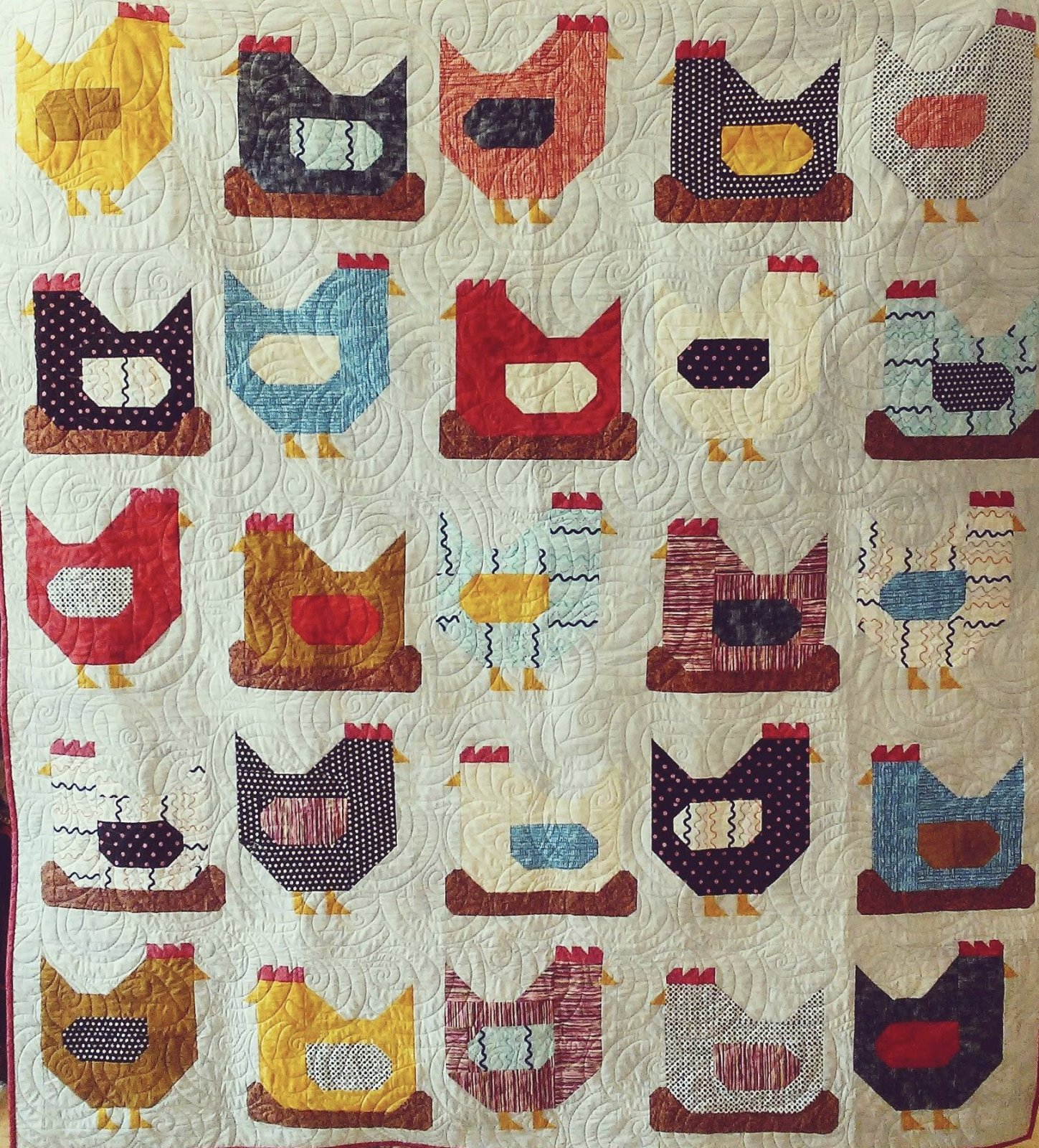Chickens Quilt Kit