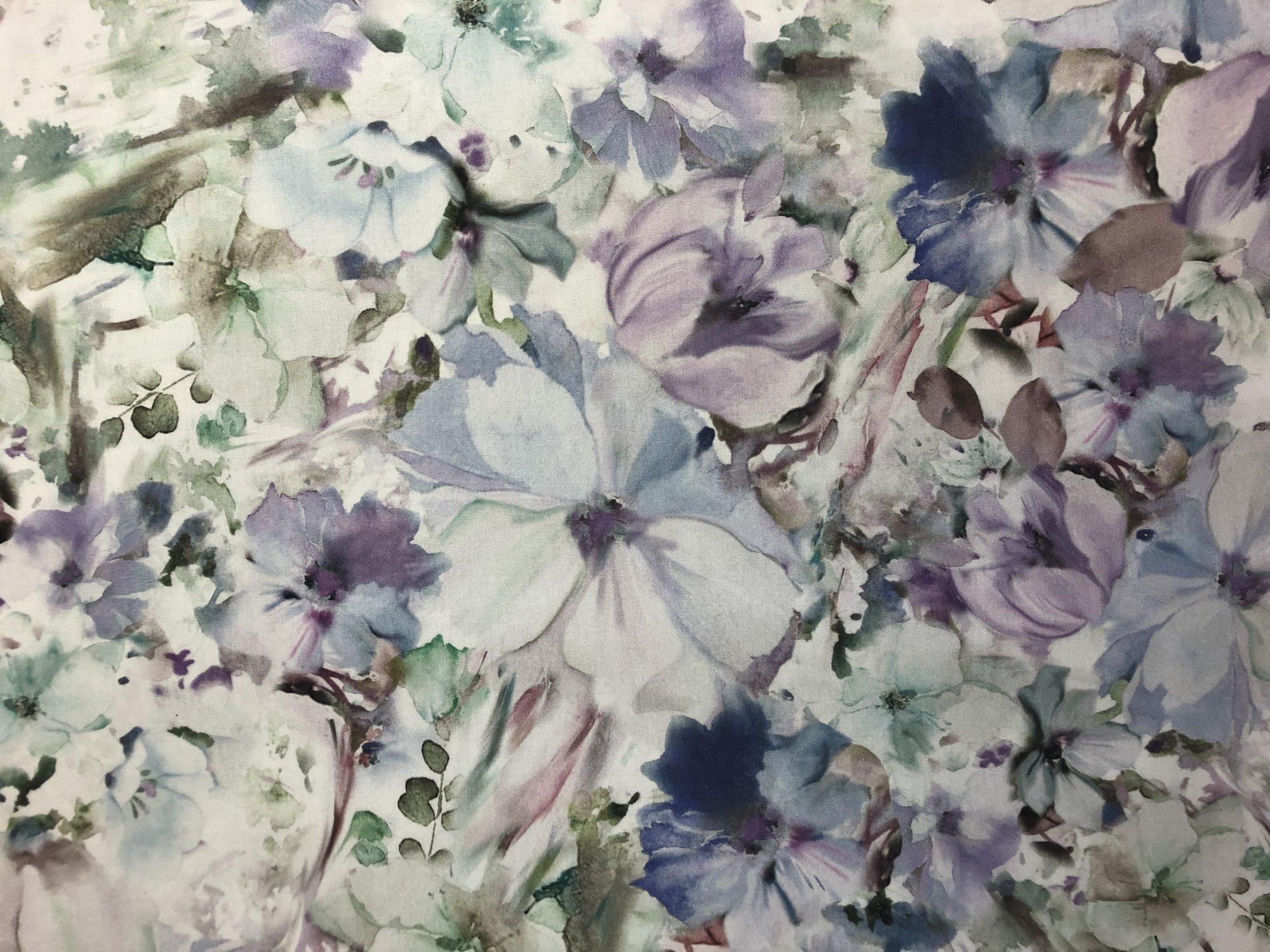 P&B Floral Arabesque Blue Digital