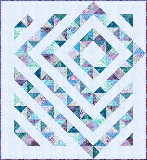 Four Patch Charm Quilt - Anemone