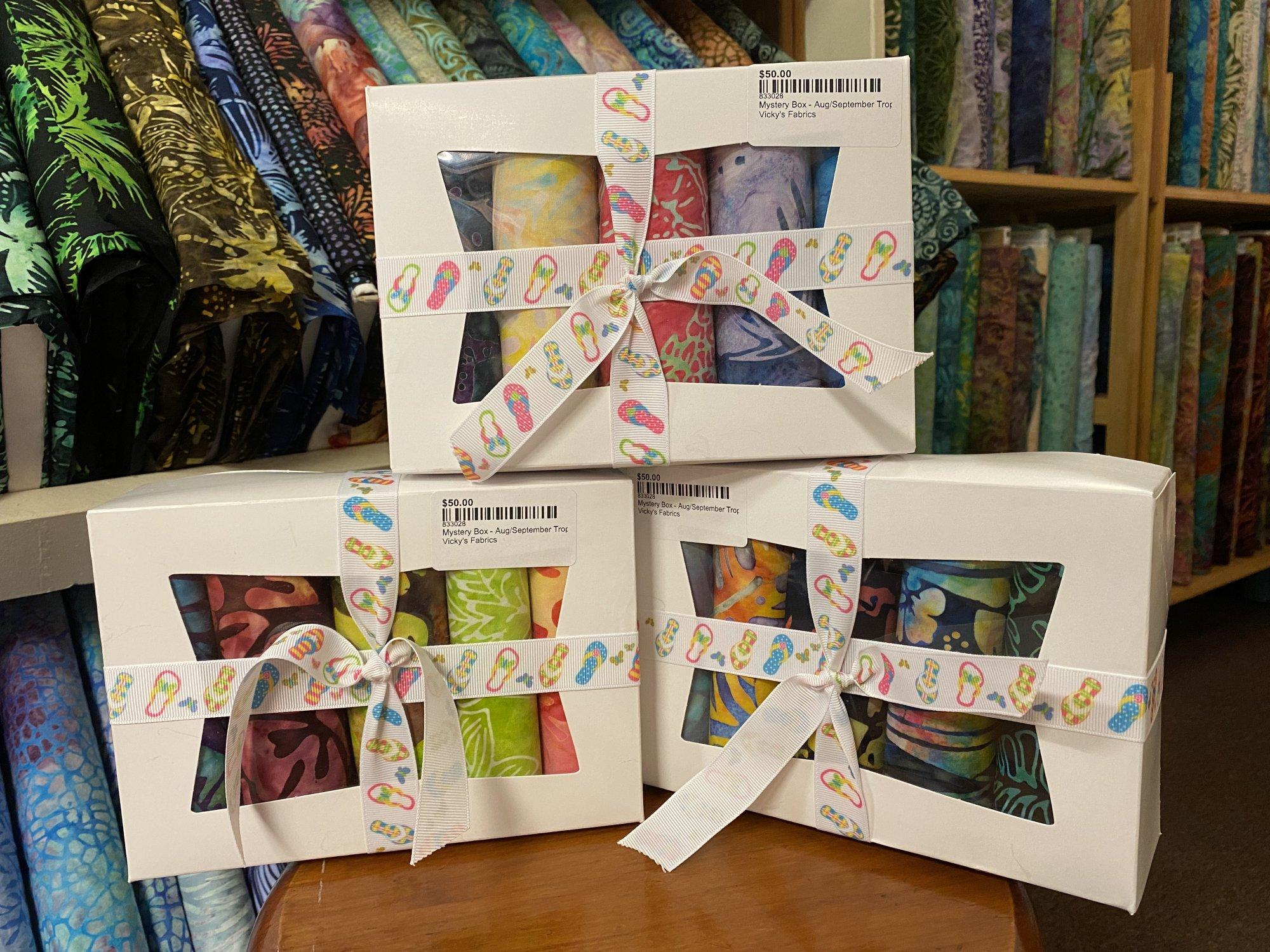 Mystery Box - Aug/September Tropical Batiks Various Companies