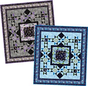 Dragonfly Pond Quilt Kit - Blue Colorway