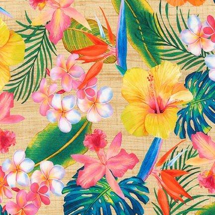 Kaufman Digital Natural Island Sanctuary All over Flower