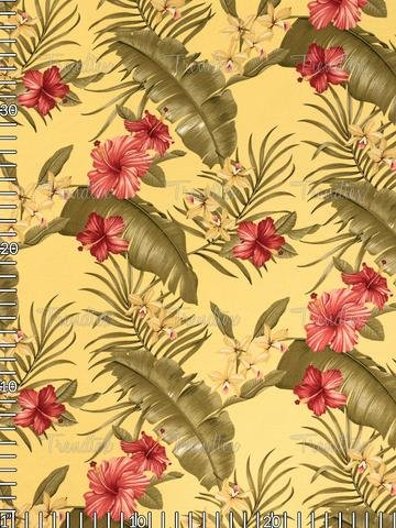 Trendtex Yellow Hamakua Barkcloth