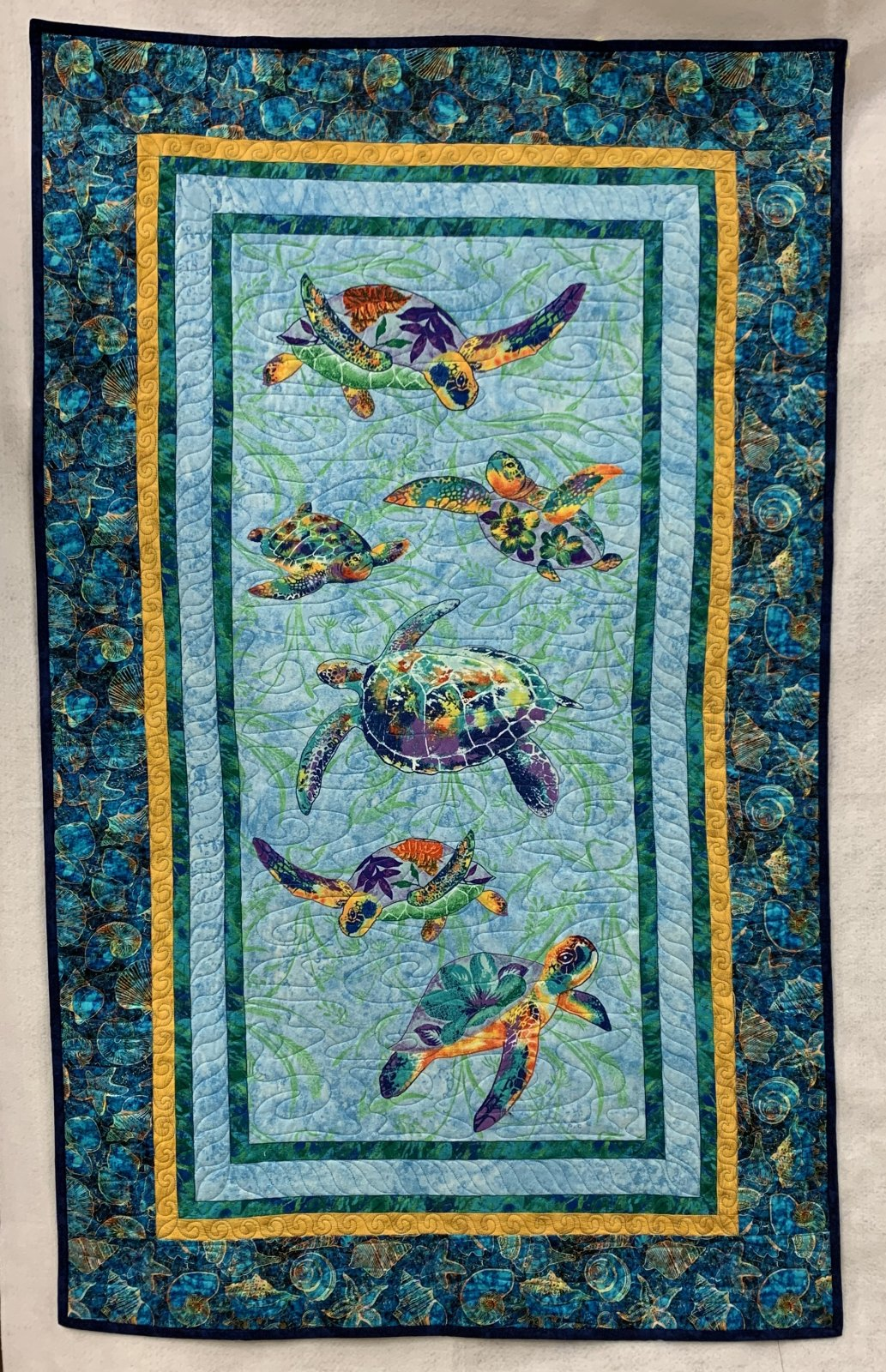 Ocean Wallhanging - Turtles