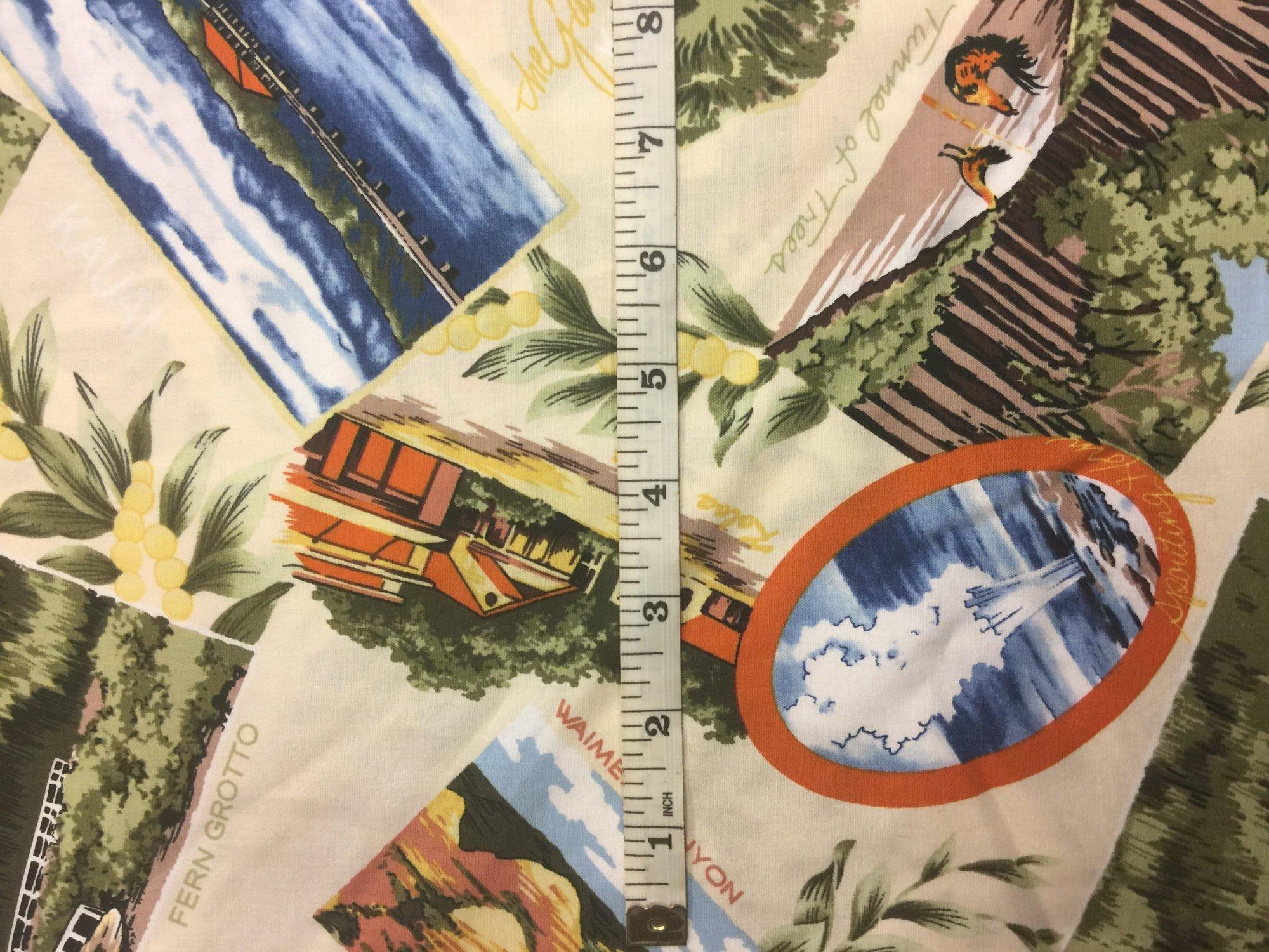 Scenic Kauai Fabric - Cream