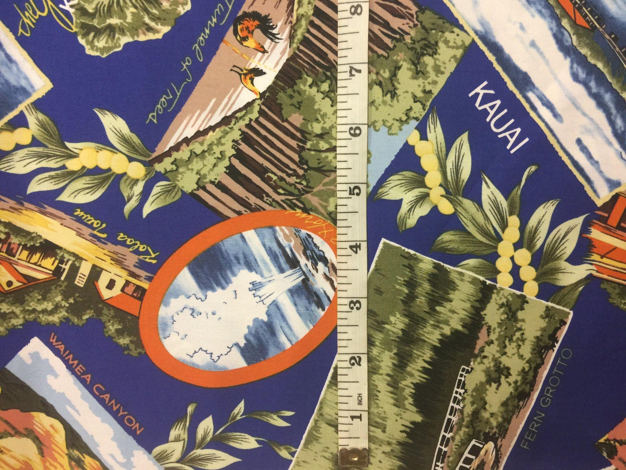 Scenic Kauai Fabric - Blue