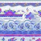 Clothworks Blue Stripe Sea Goddess