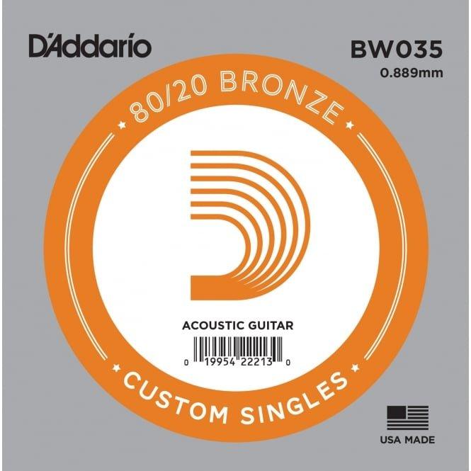 D'addario Single 80/20 Bronze Wound Size 35