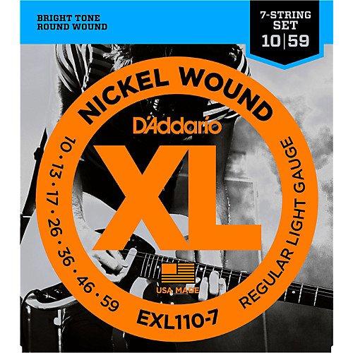 D'Addario EXL1107 Regular Light 7 String electric guitar