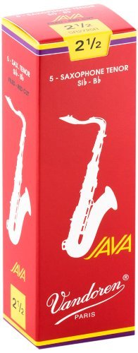 Vandoren Java Red Cut Tenor Saxophone 2.5 box of 5