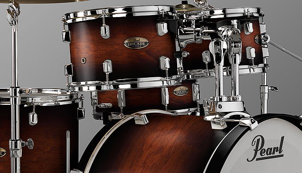 Pearl Decade Maple 5 piece kit w/ 22 Bass Drum - Satin Brown Burst