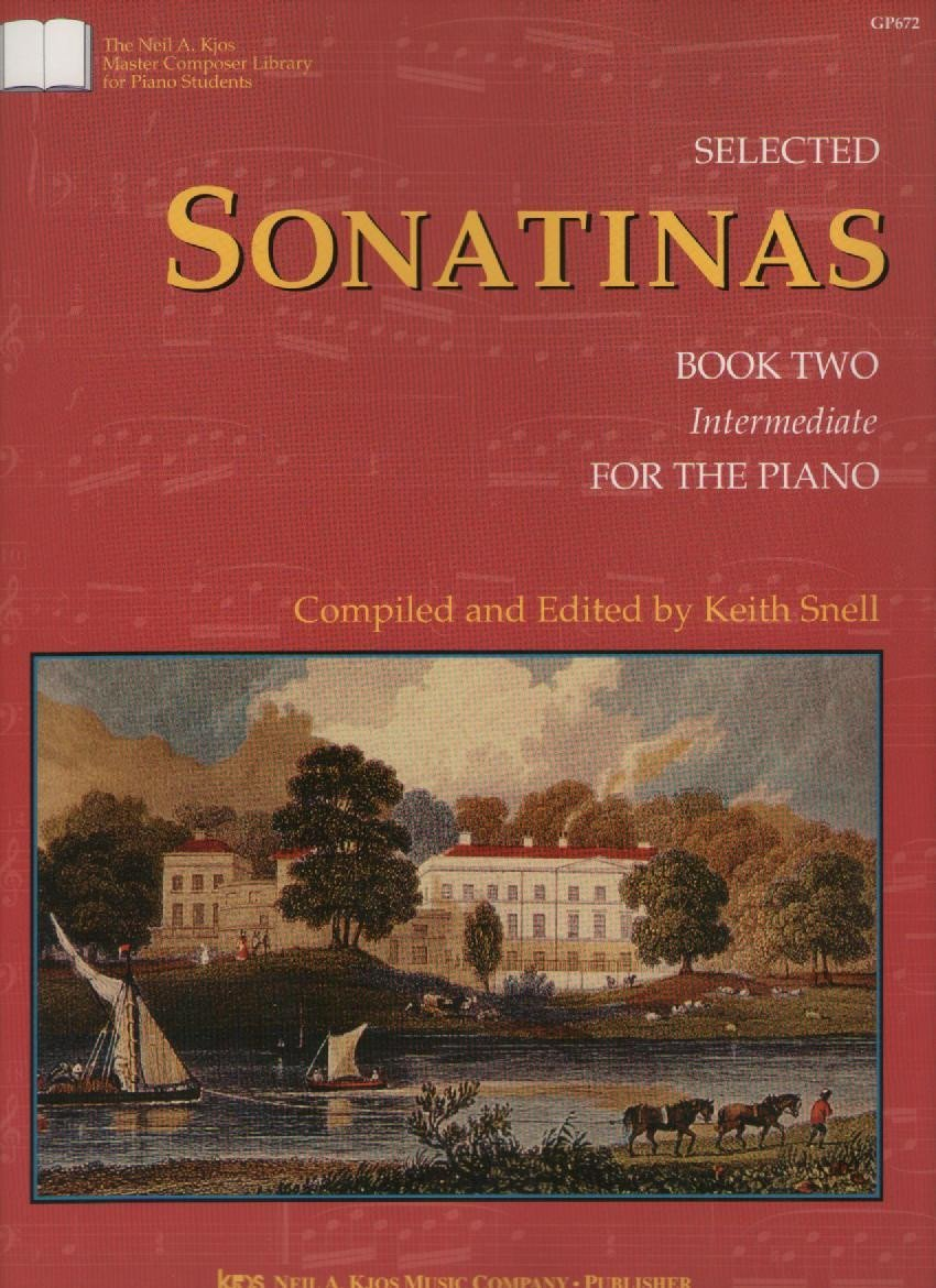 Selected Sonatinas for the piano intermediate book 2 by K. Snell