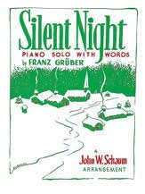 Silent Night piano solo with words John W. Schaum Arr.