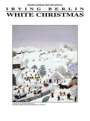 White Christmas simplified piano solo