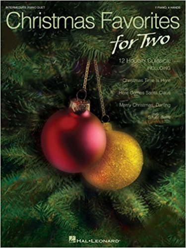 Christmas Favorites for Two Intermediate Piano Duet 1 piano 4 hands