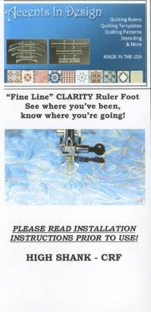 Fine Line Carity Ruler Foot- CRF