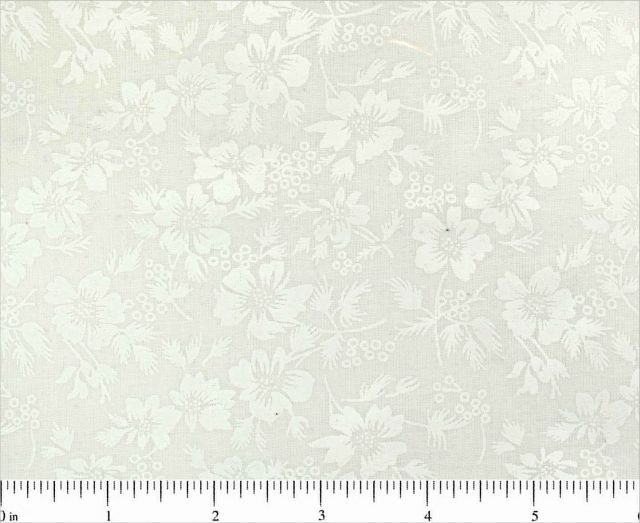 White tone on tone Med Floral