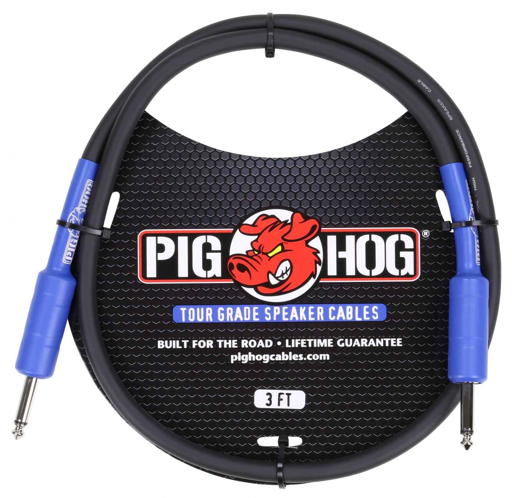 Pig Hog 1/4 Speaker Cable 3'