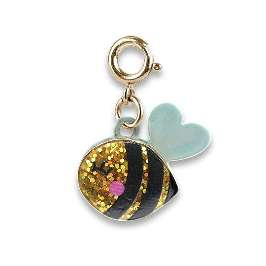Charm It - Gold Glitter Bee
