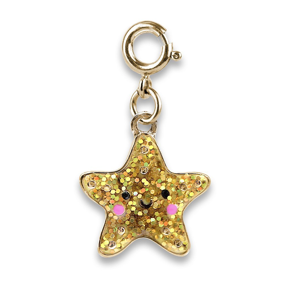 Charm It - Gold Glitter Starfish