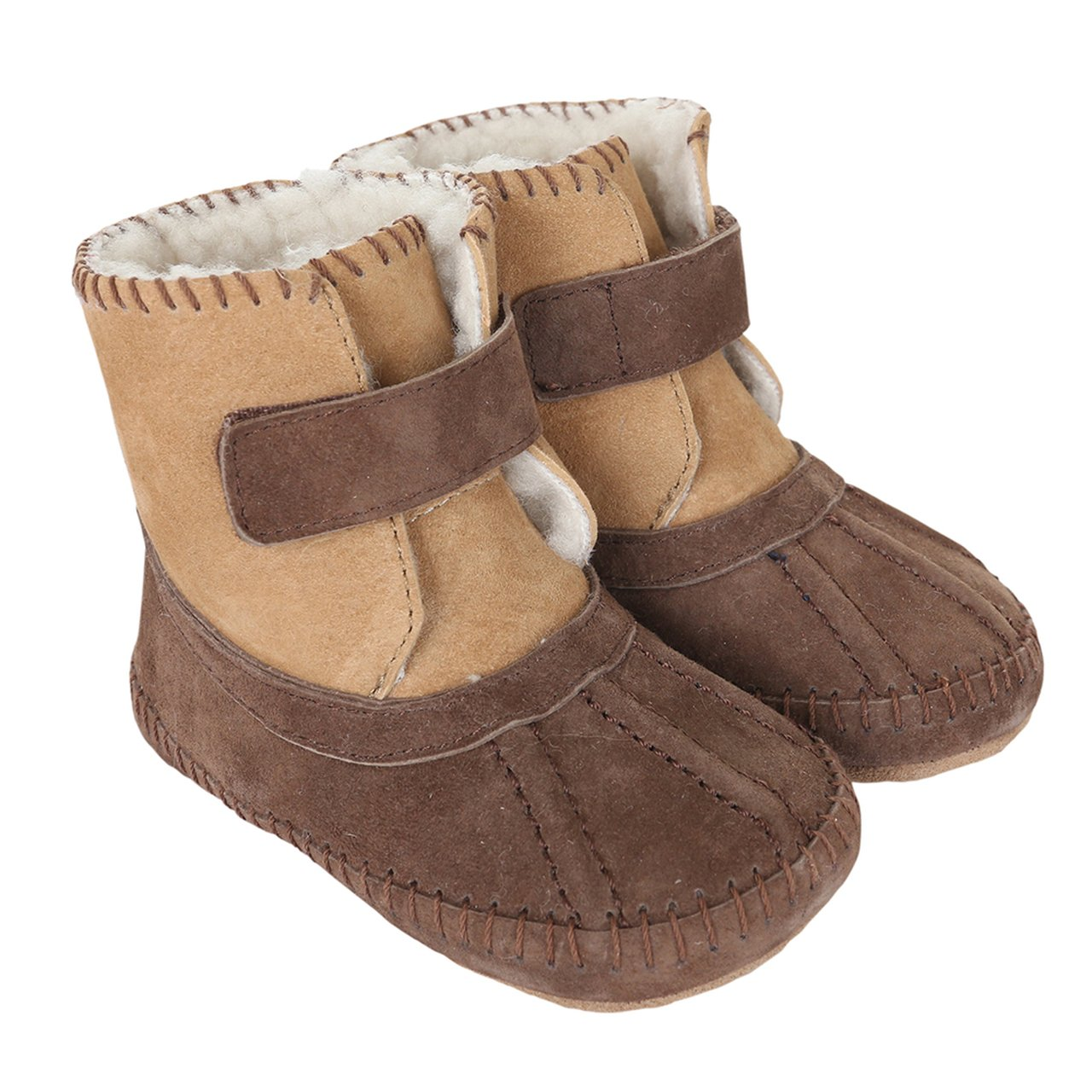 Robeez Galway Cozy Bootie Soft Sole / Brown - boys