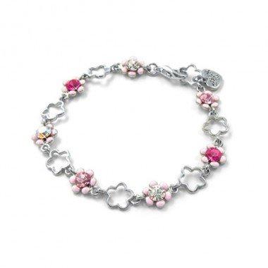 Charm It - Pink Flower Bracelet