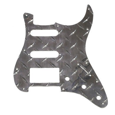 All Parts PG-9895-010 Diamond Plate Pickguard For Strat HSS