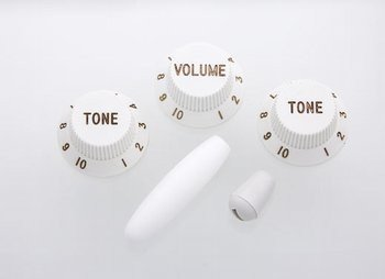 All Parts PK-0178-025 White Knob Set For Strat