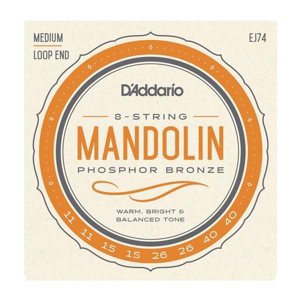 D'Addario EJ74 Mandolin PB Med 11/40