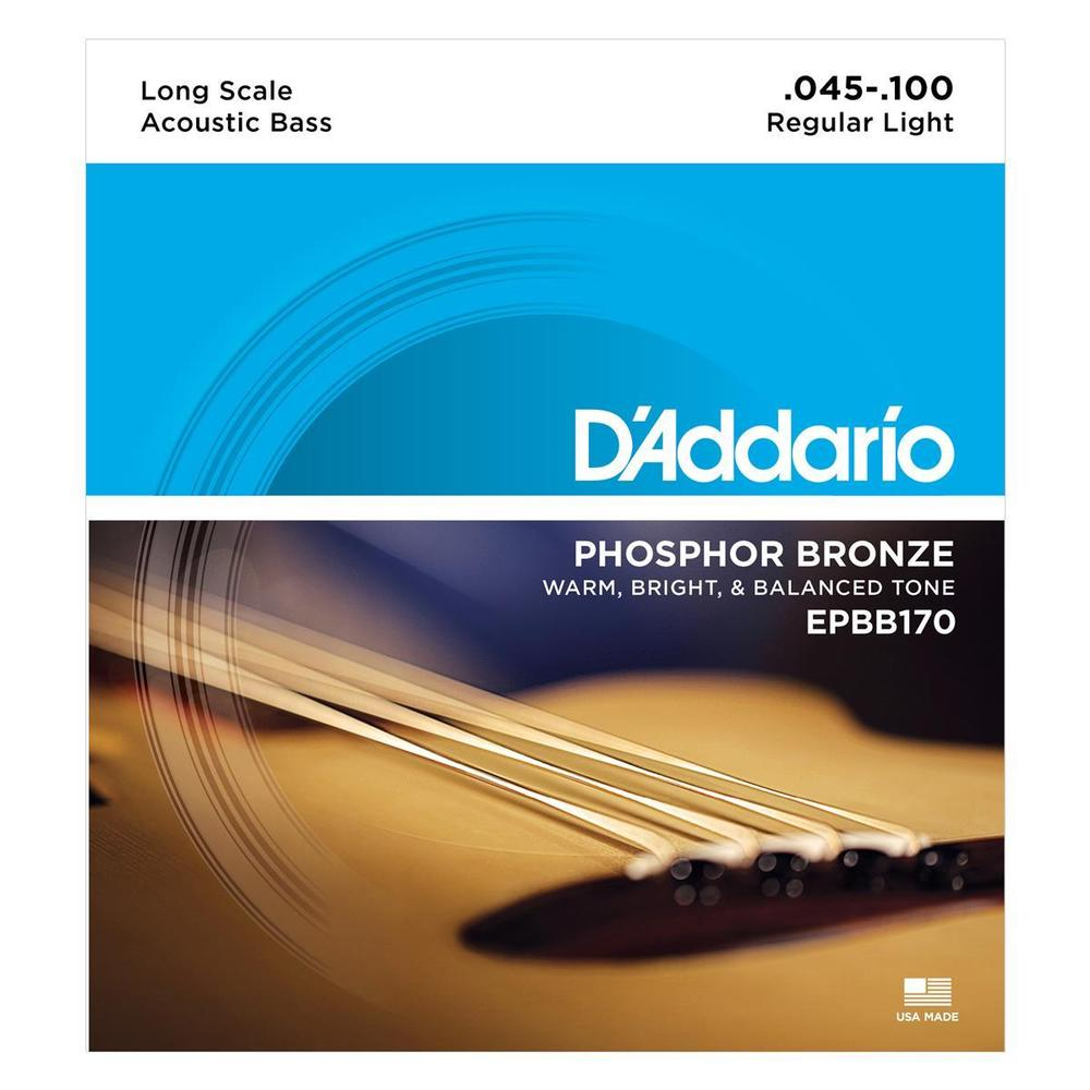 D'Addario EPBB170 Acoustic Bass PB Lit 45/100