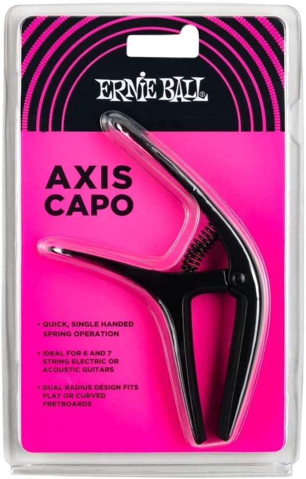 Ernie Ball PO9600 Axis Dual Radius Capo, Black Satin