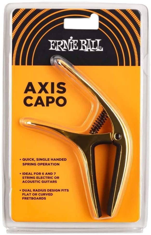 Ernie Ball Axis Dual Radius Capo, Gold