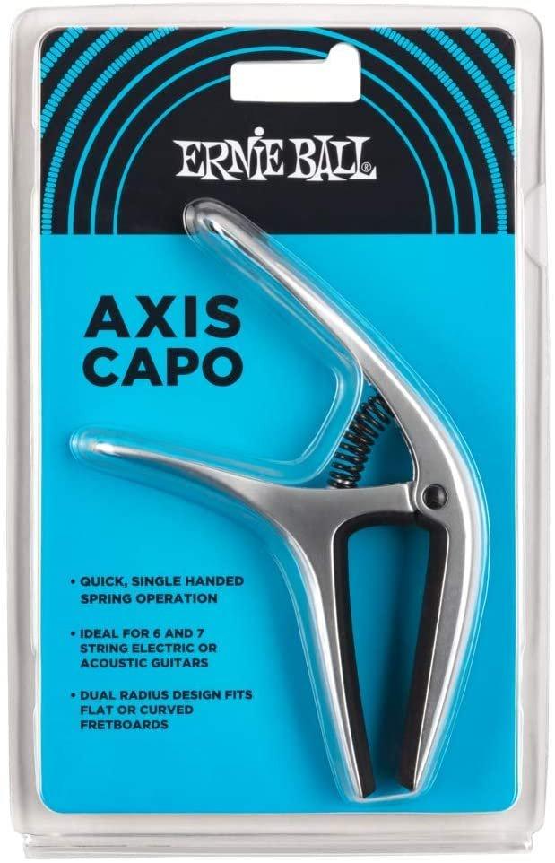 Ernie Ball Axis Dual Radius Capo, Silver satin